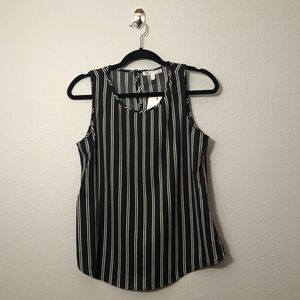 NWT DR2 Striped Sleeveless Blouse